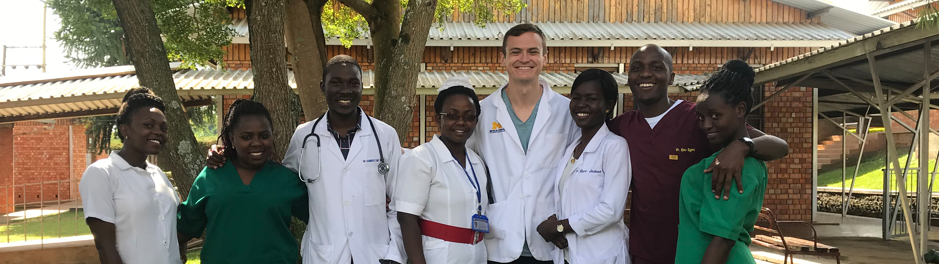 A UMMS student on a clinical rotation in Fort Portal, Uganda
