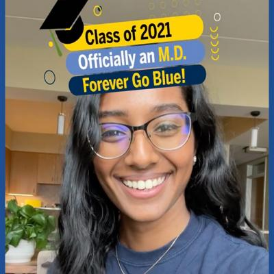 Class of 2021 Officially an M.D. Forever Go Blue!