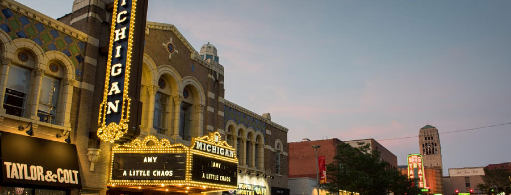The Michigan Theater in downtown Ann Arbor