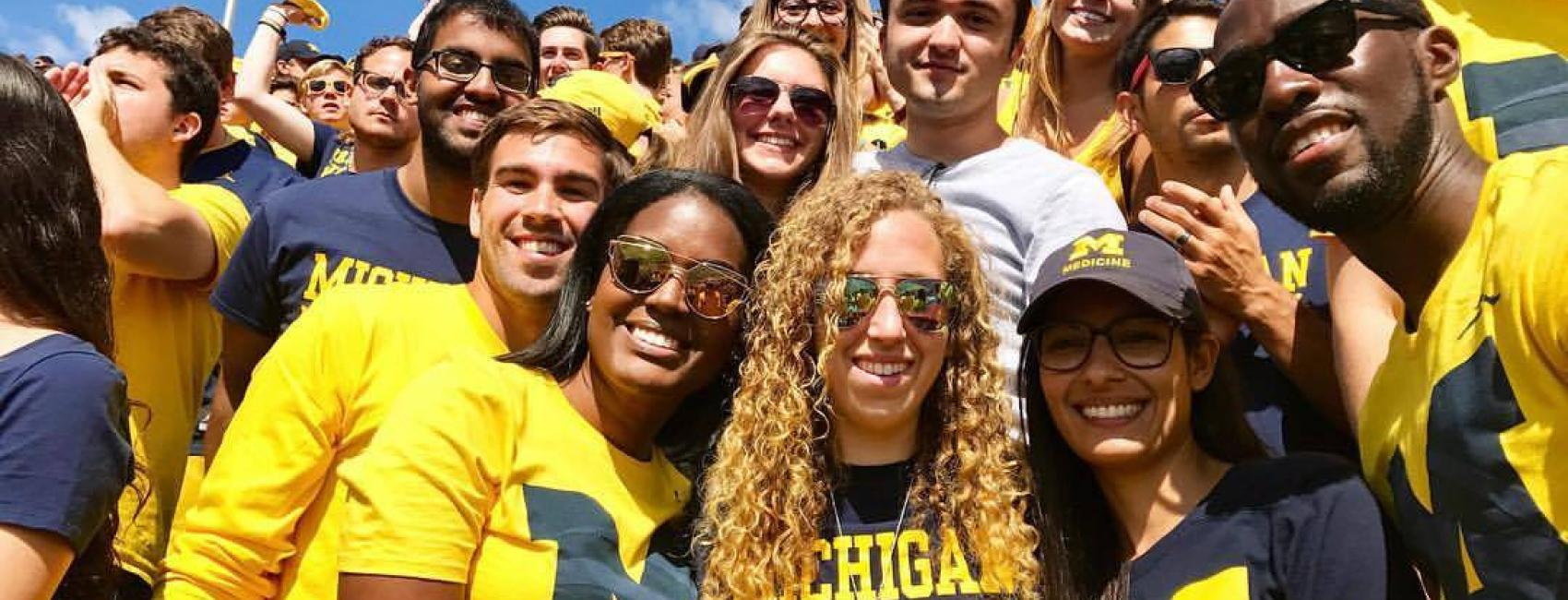 Medical students at the Big House