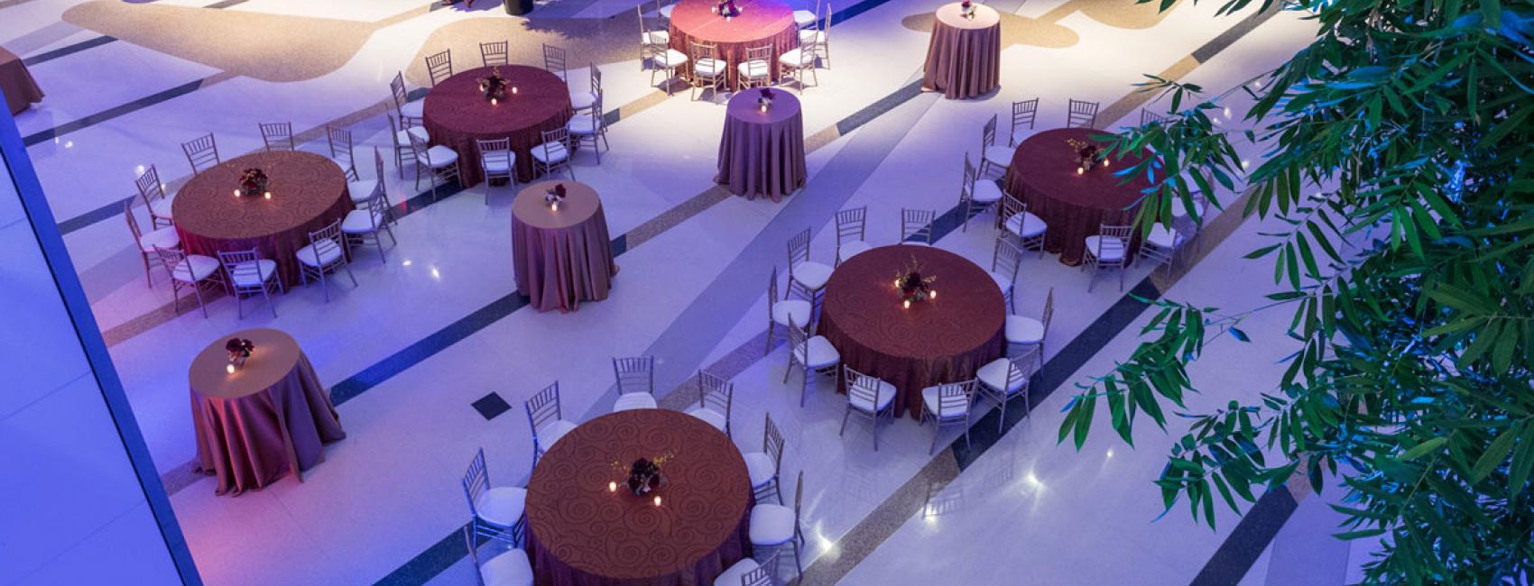 Award ceremony dining hall