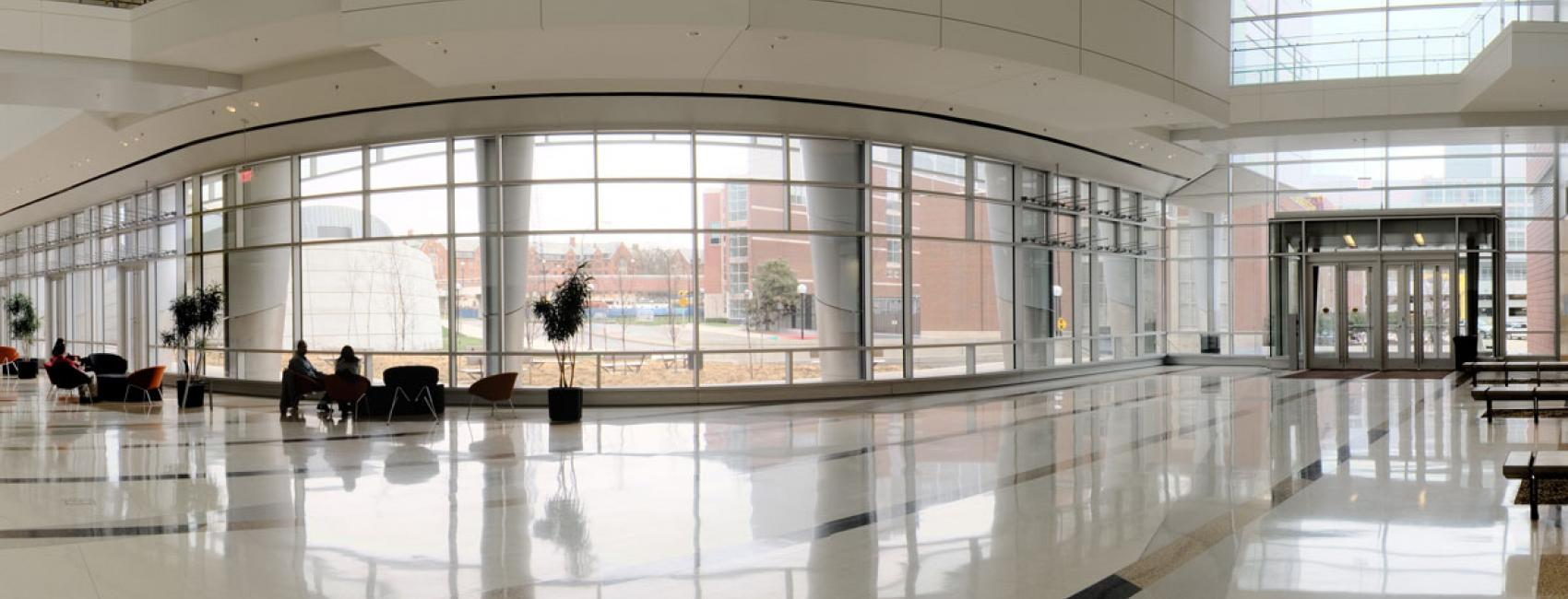 Lobby of the Biomedical Science Research Building