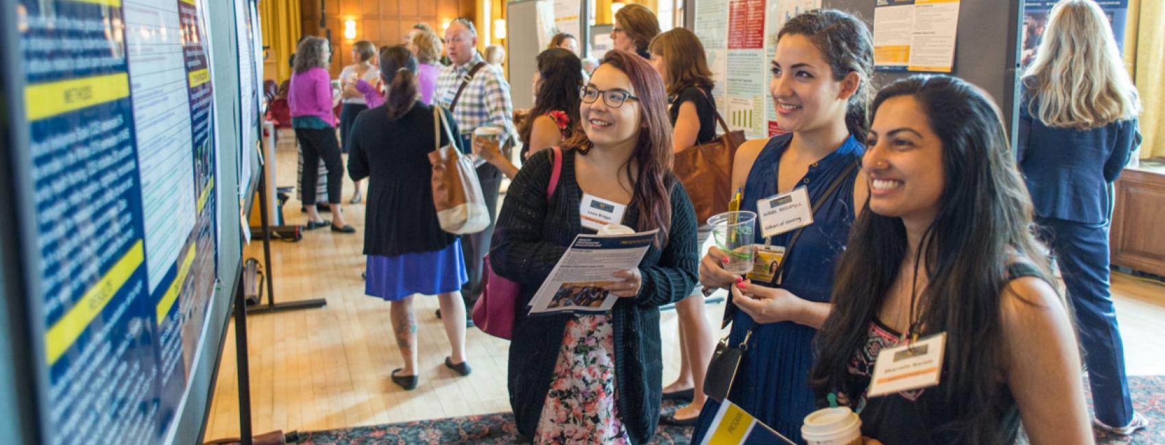 Students at Health Professions Day poster session