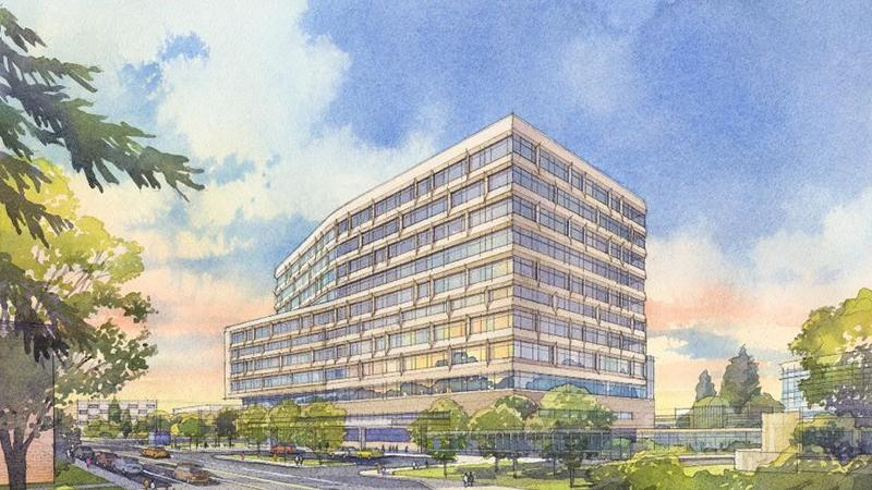 Rendering of new U-M adult hospital