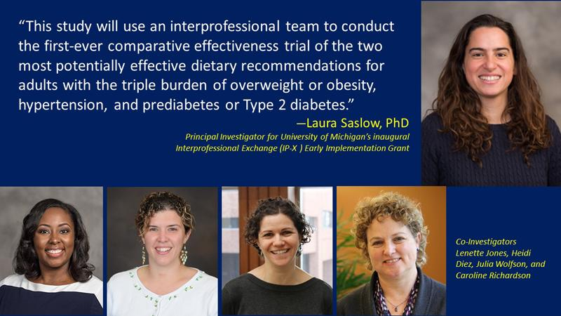 Recipients of first-ever Early Implementation Grant in U-M's groundbreaking Interprofessional Exchange (IP-X) Research Stimulus program