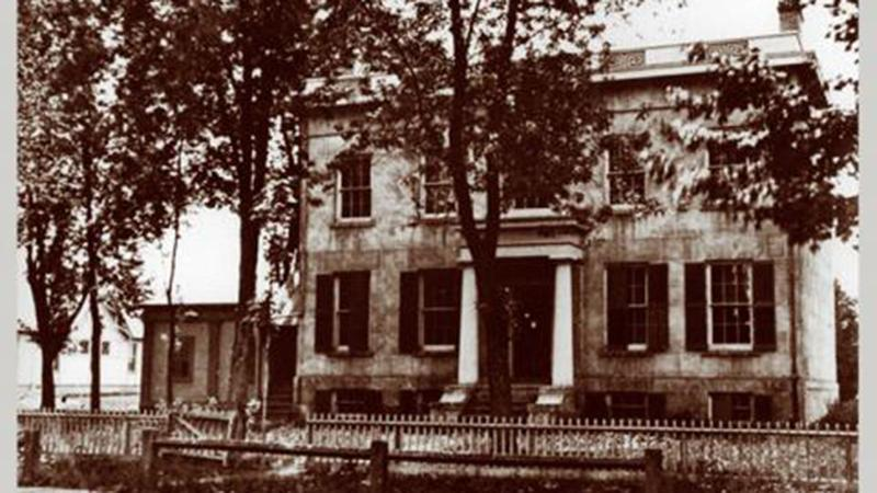 The professor's house that was converted to become the first U-M hospital.