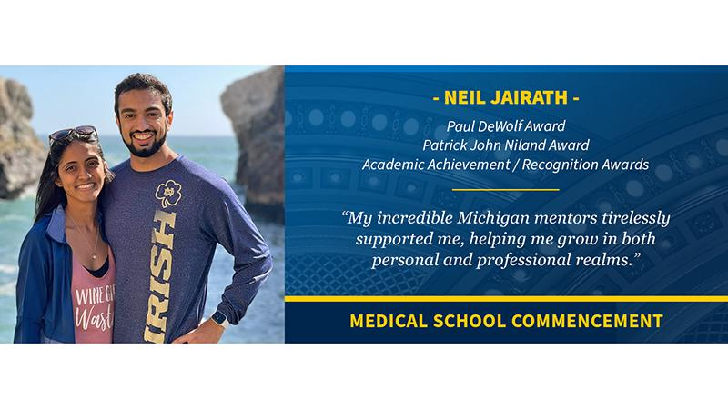 2021 Medical School graduate Neil Jairath