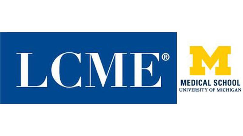 LCME and U-M Medical School logo