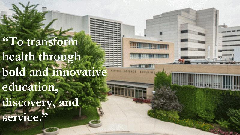 New U-M Medical School mission