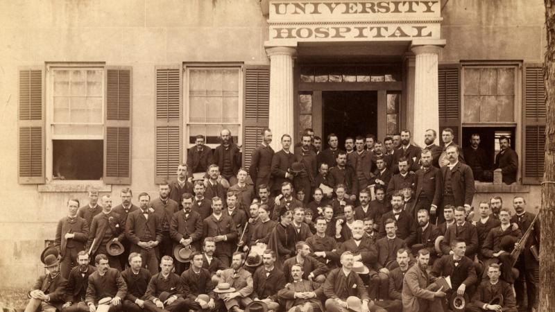 University Hospital historical photo