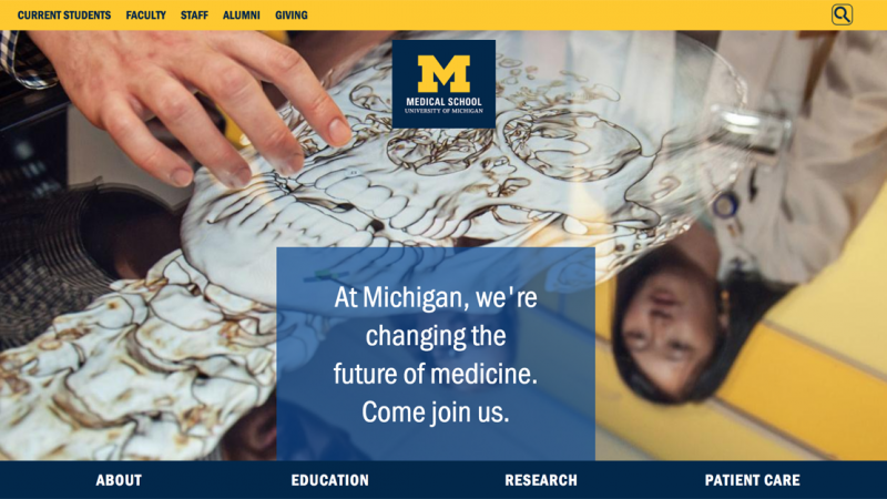 Medical School website