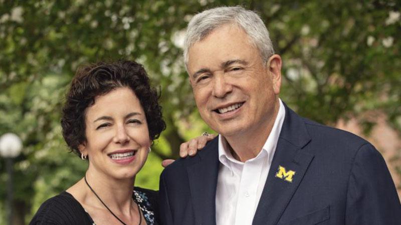 Elizabeth Caswell and Regent Ron Weiser