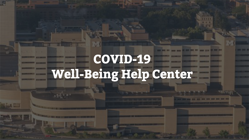 COVID-19 Well-being Help Center