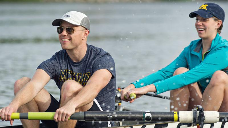 Medical student on rowing team