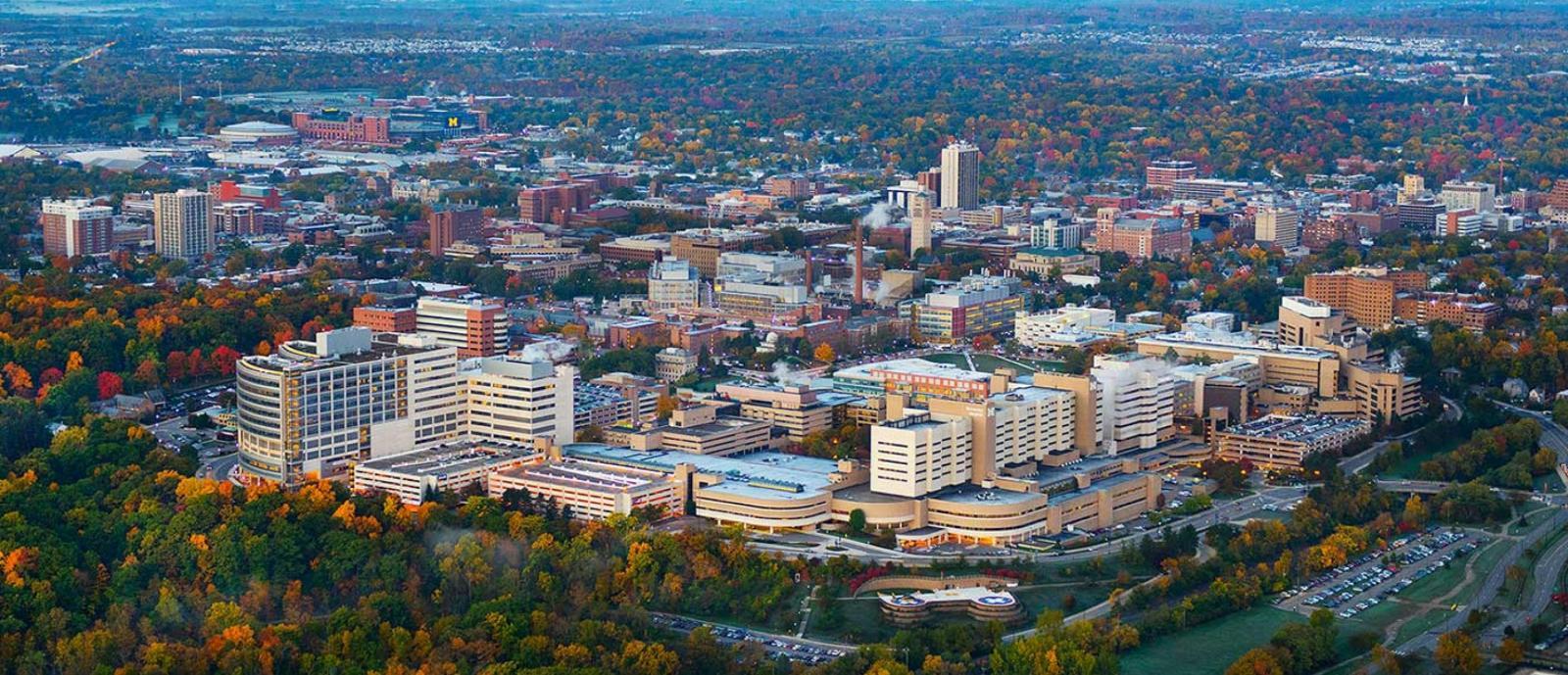 Aerial of Michigan Medicine