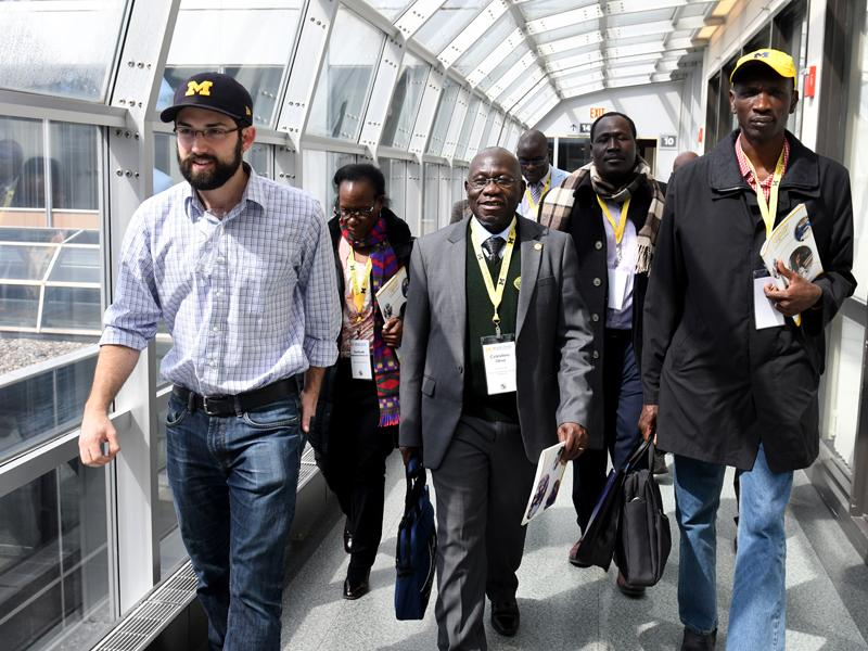 Delegates from Mbarara University of Science and Technology, Uganda, visit the Michigan Medicine North Campus Research Complex