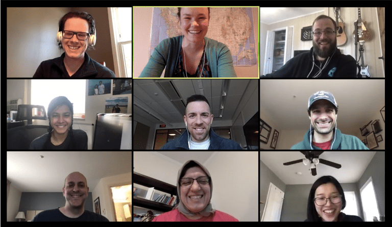 COVID Staffing team collaborates on Zoom call