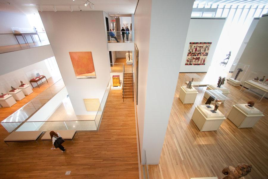 An Art Gallery At The Museum Of University Michigan