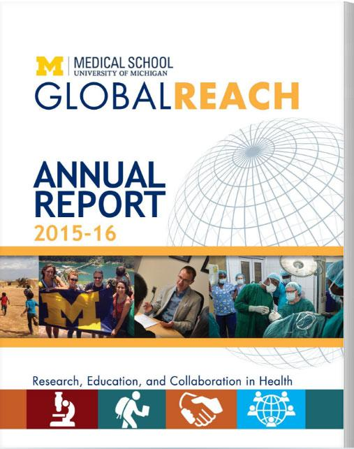 Cover of Global REACH Annual report for 2015-16