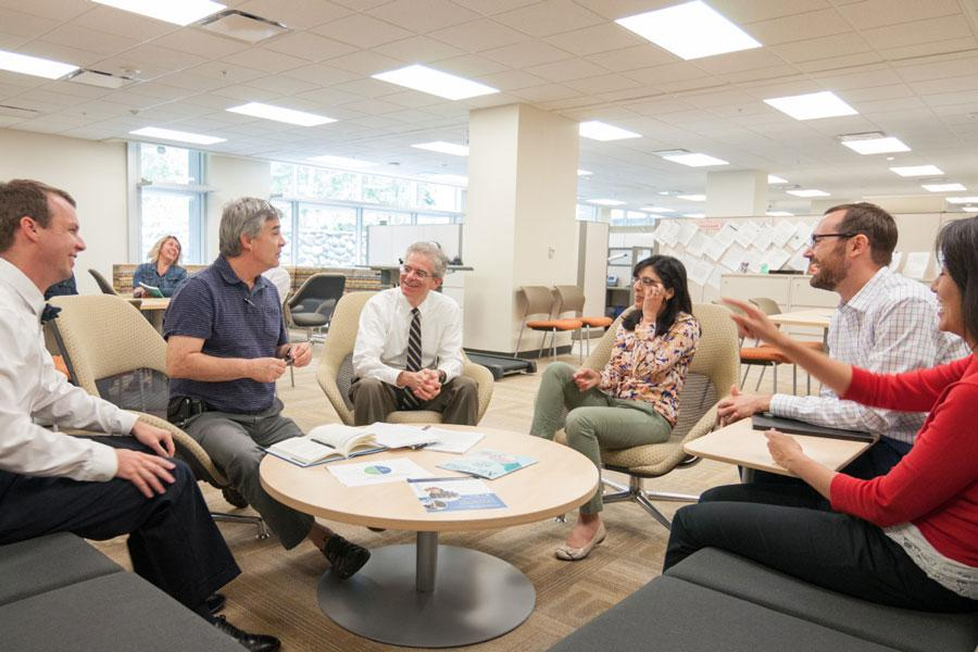 Health care policy team brainstorms