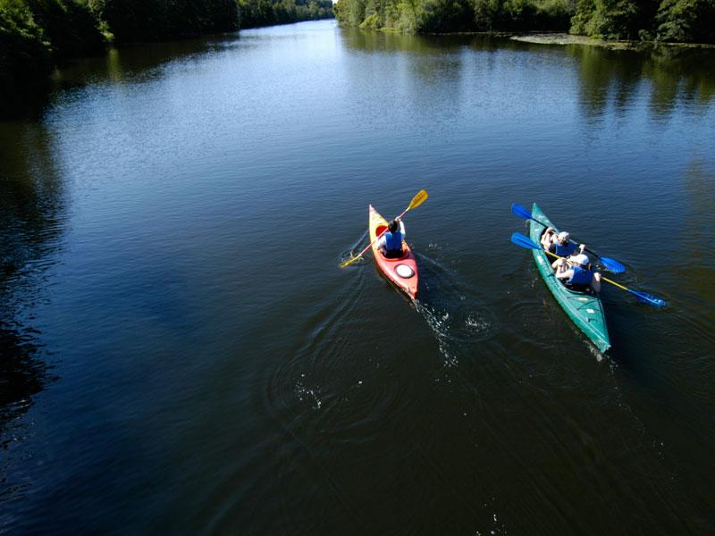 Kayakers on the Huron River