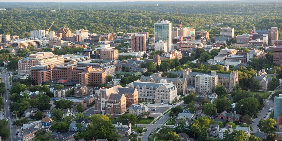 Aerial image of Ann Arbor