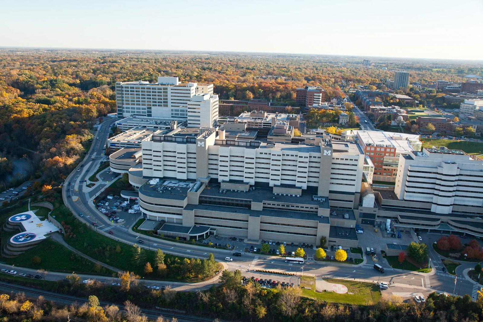 Aerial Photo Of U M Medical Campus