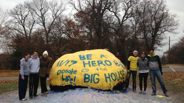 Students raising awareness for Big House event
