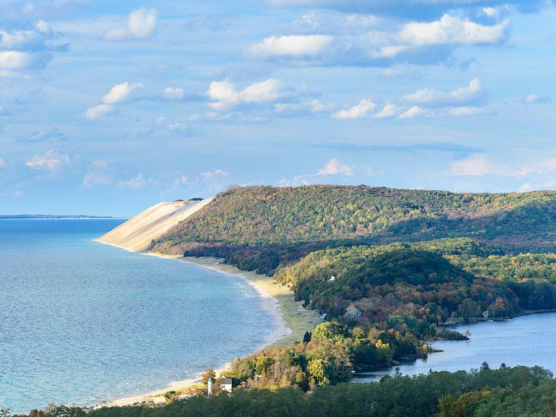 Sleeping Bear Dunes in Northern Michigan