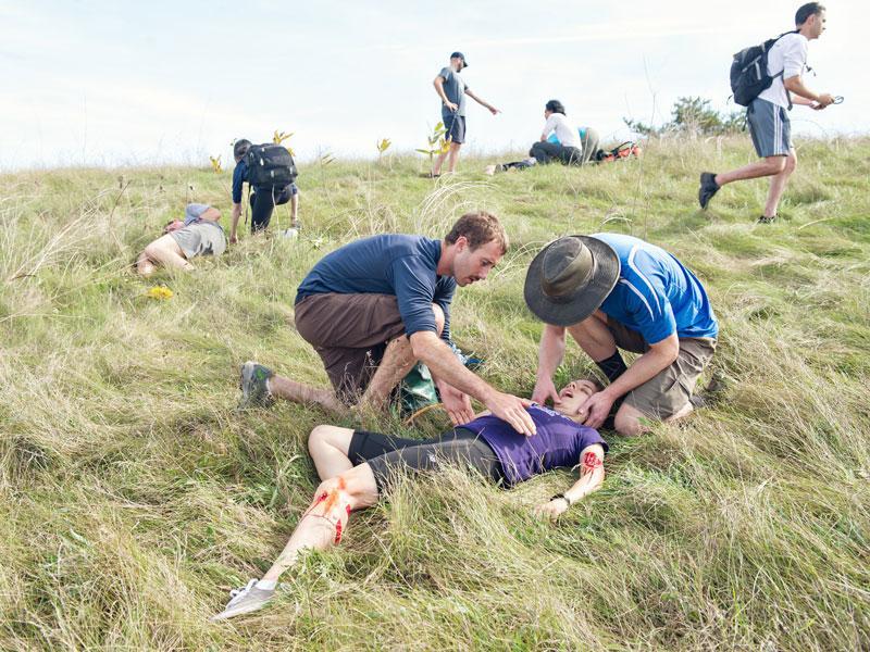 Wilderness medicine drill
