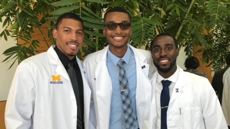 Three medical students at University of Michigan