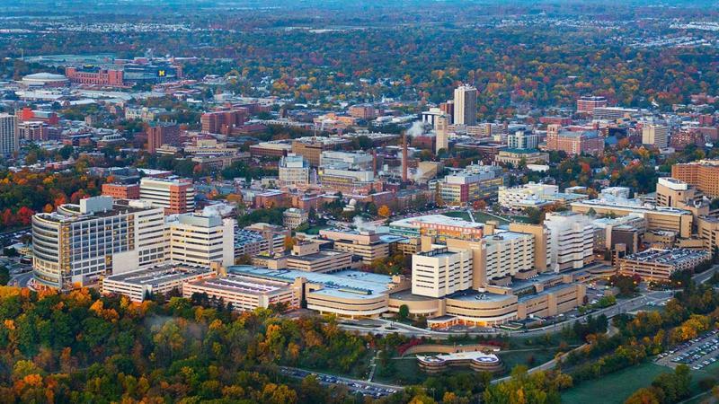 Aerial view of Michigan Medicine