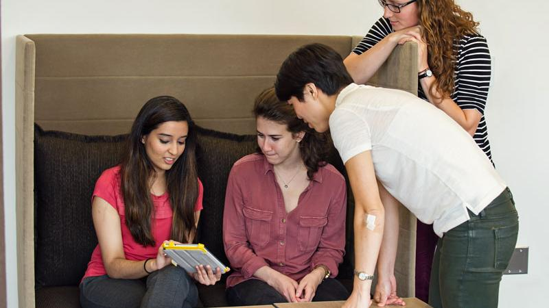 M.D. students in a study pod