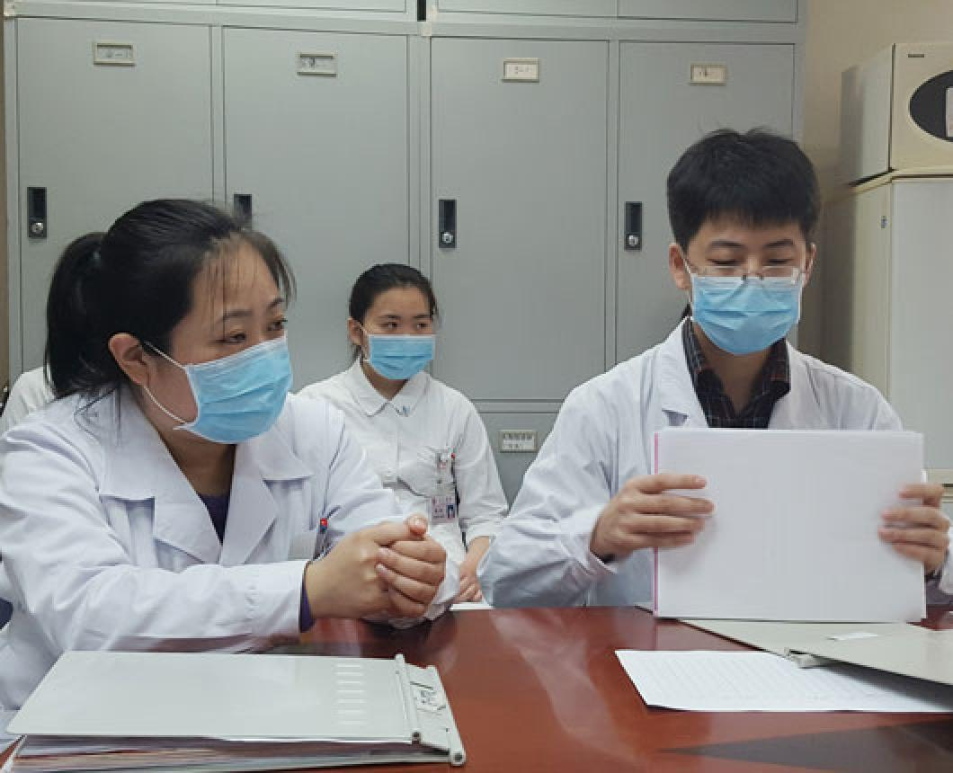 Medical students in China
