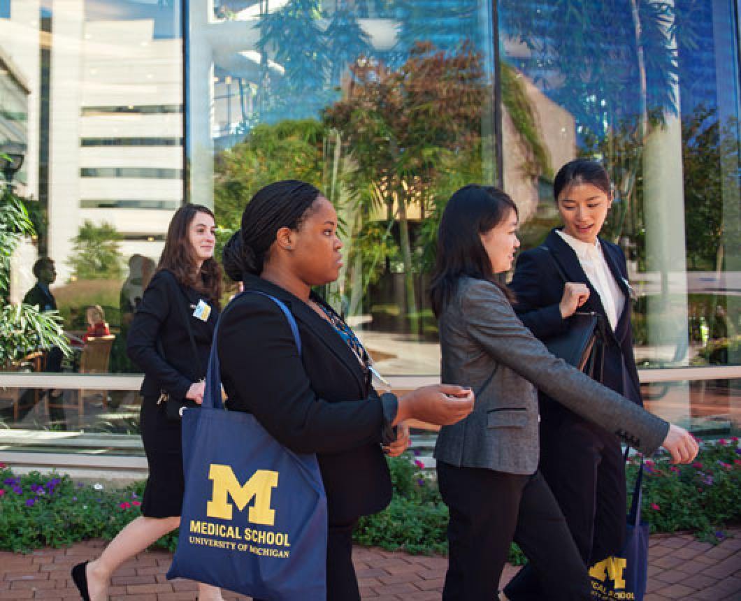 Students at Interview Day outside the CVC