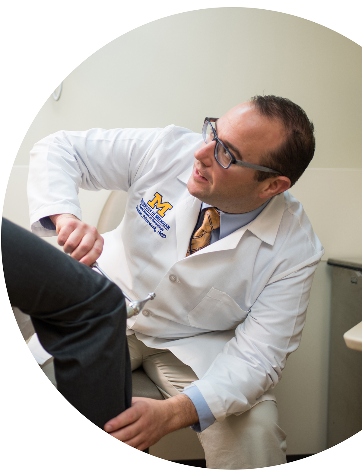 Dr. Dustin Nowacek in clinic
