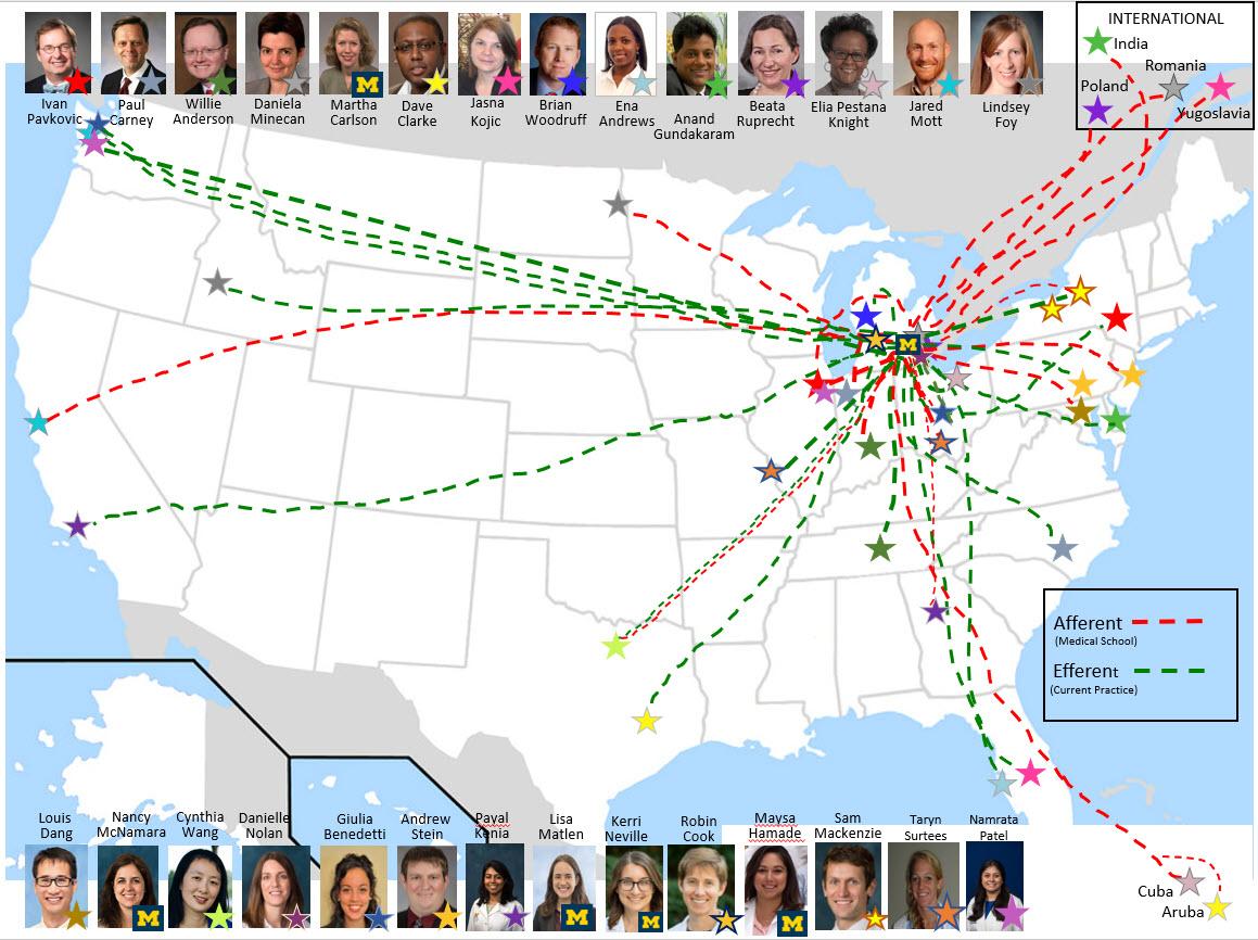 Map of Pediatric Neurology Resident origins