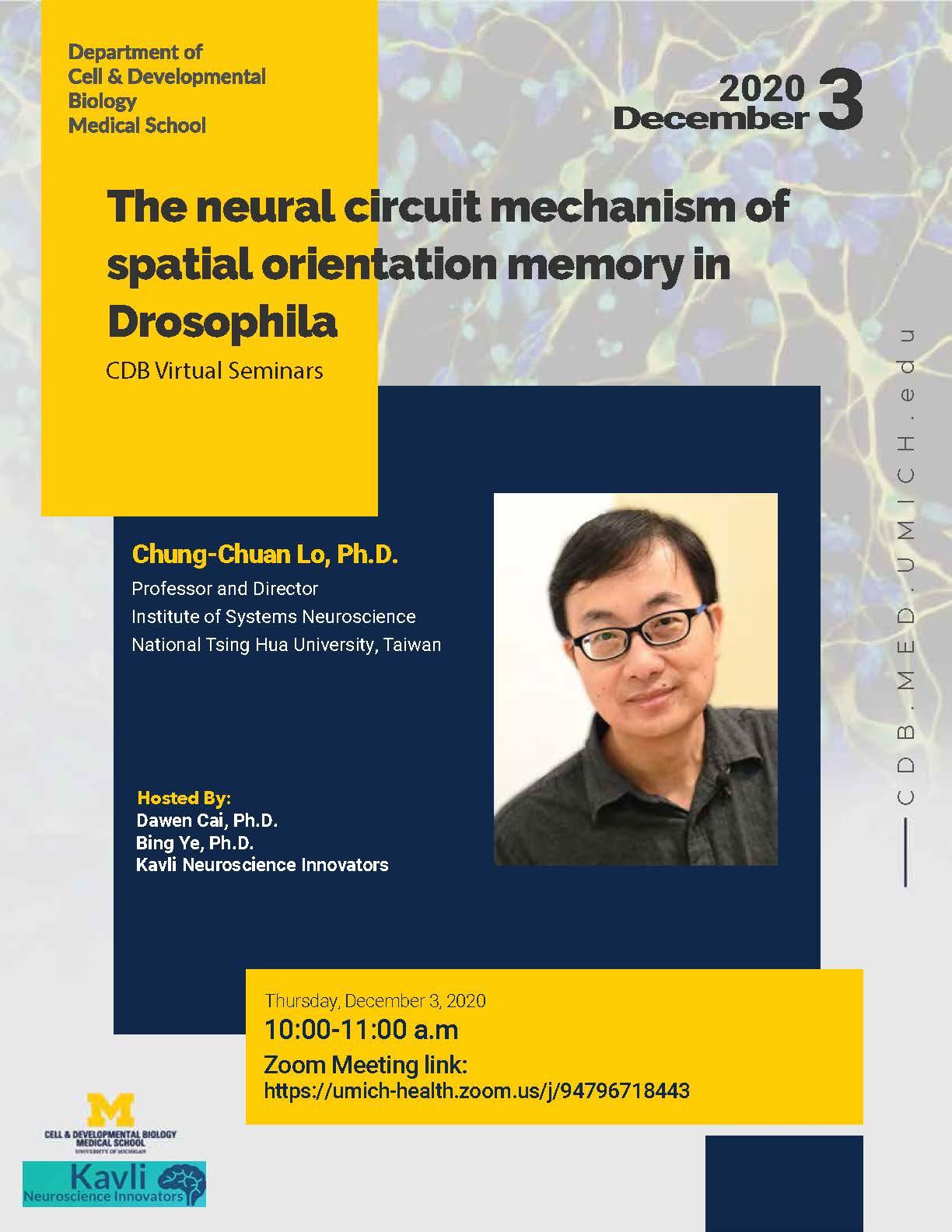 Chung-Chuan Lo, Ph.D. CDB seminars