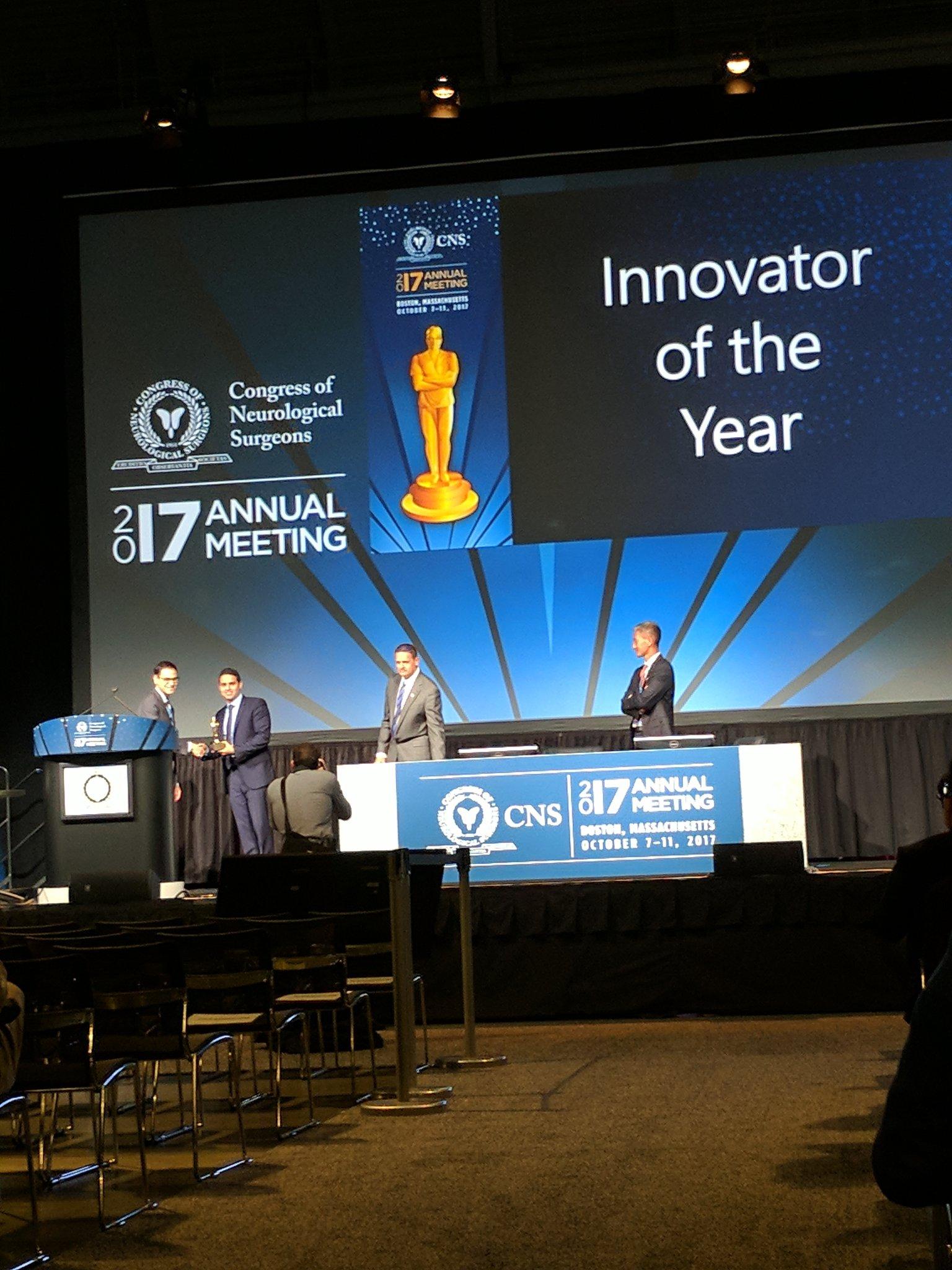 Orringer Receiving Innovator of Year Award