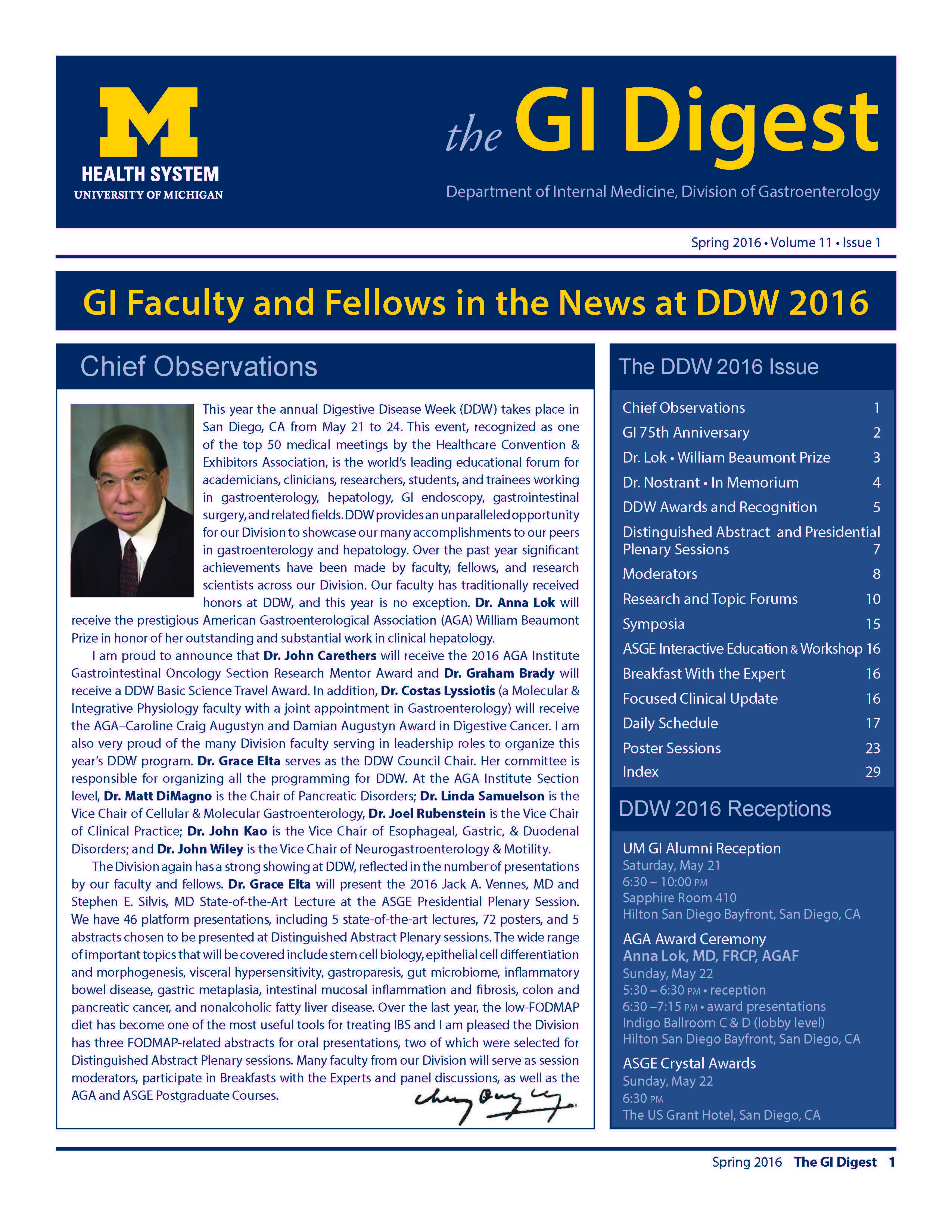 U-M Division of Gastroenterology GI Digest Newsletter