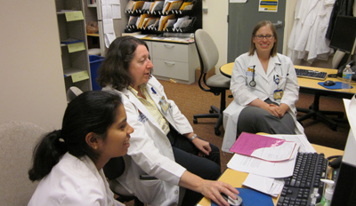 Dr. Karen Hall with students