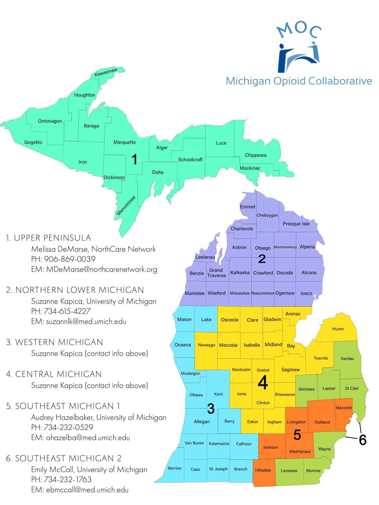 MOC BHC Region map
