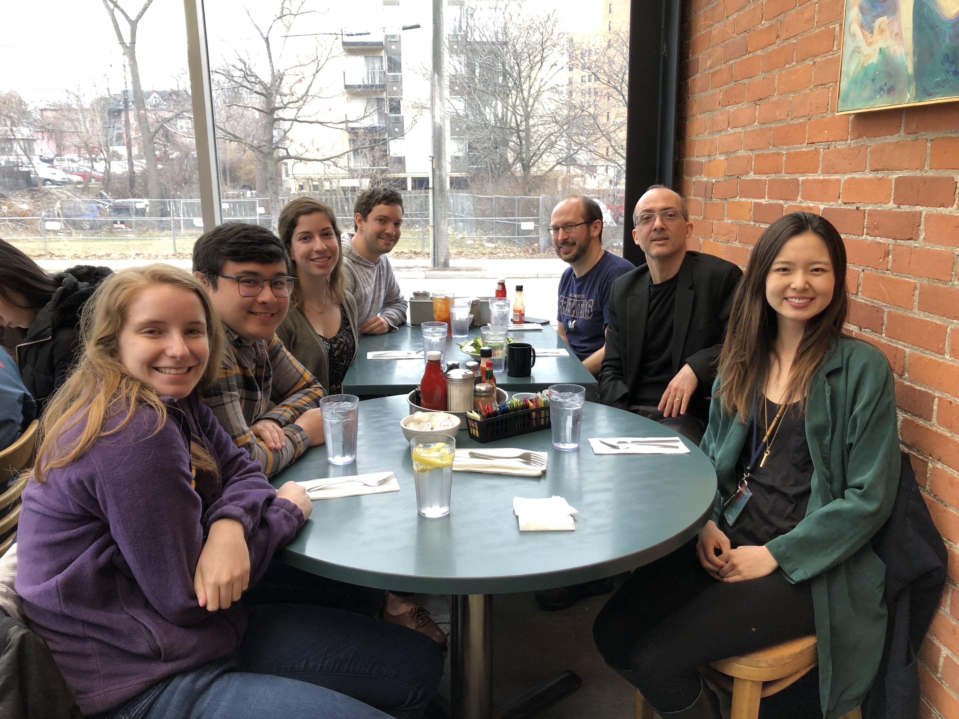 Brent Stockwell lunch with trainees