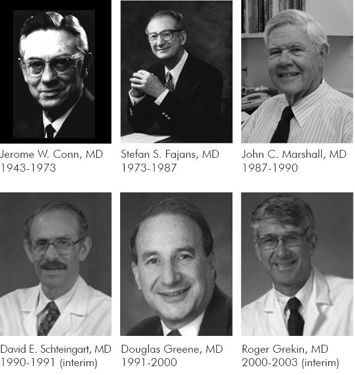 U-M MEND past division chiefs