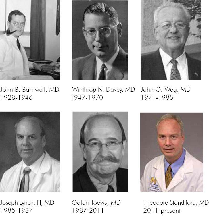 U-M pulmonary division chiefs