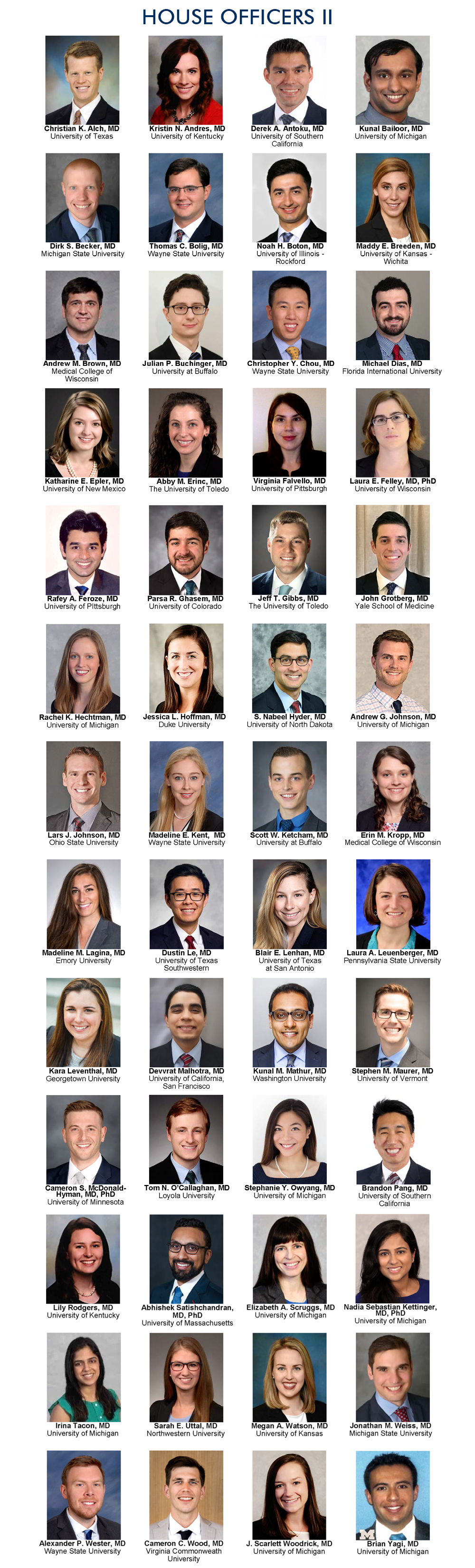 Our Residents | Internal Medicine | Michigan Medicine