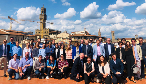 Dr. Khanna at the Masterclass on ILD-SSc in Florence, Italy.