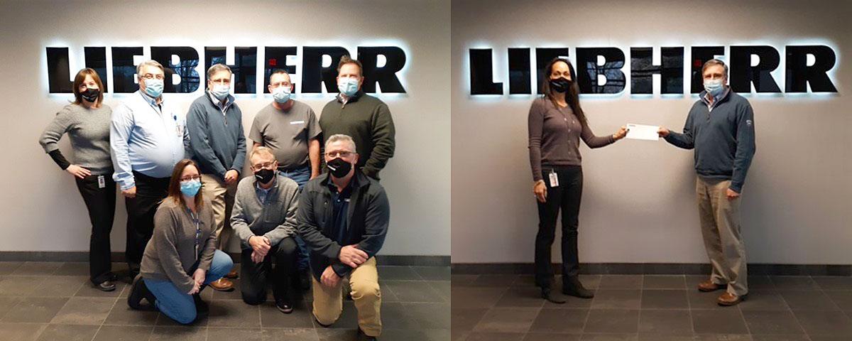 Liebherr fundraising team