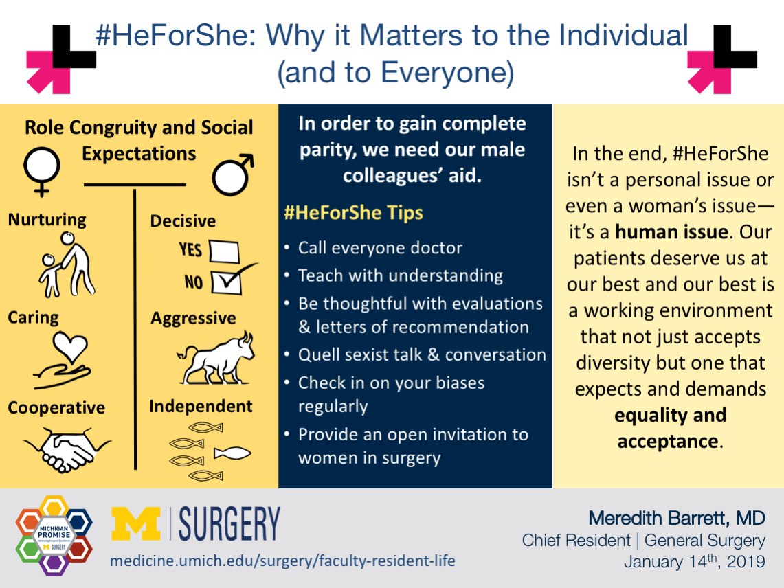 "Visual Abstract for ""#HeForShe: Why it Matters to the Individual (and to Everyone)"" by Dr. Barrett"