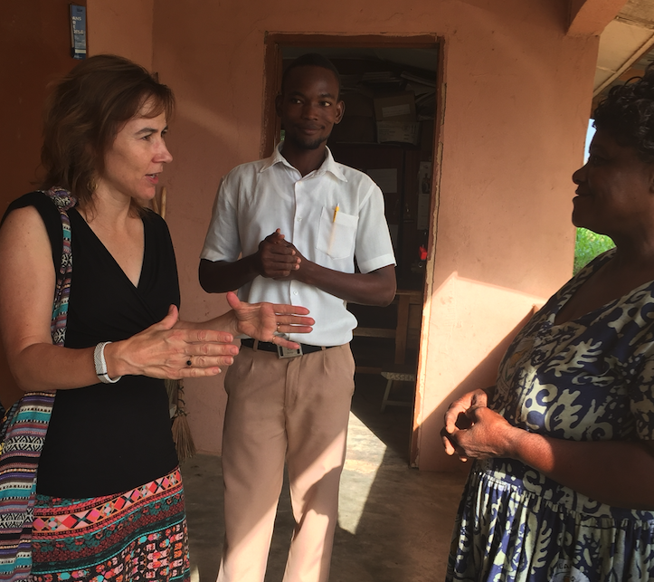 Moyer in Ghana with partners